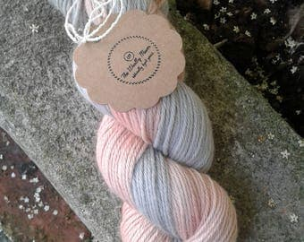 Naturally Dyed, Baby merinoDK, yarn, wool, knitting, crochet, double knit,  'Bea and Grumpy'