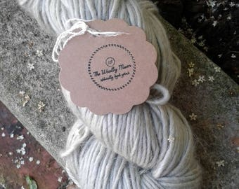 Naturally Dyed Luxury Aran 'Glacial Green'