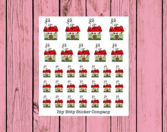 Mauly works at Home - Hand Drawn IttyBitty Kitty  Collection - Planner Stickers