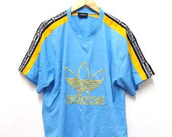 Hot Sale!!! Rare Vintage 90s ADIDAS TAPE Embroidery Big Logo Jersey Hip Hop Skate Swag Extra Large Size