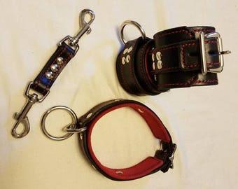 Locking collar with locking cuffs and a cuff connector
