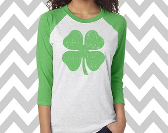 Shamrock St. Patrick's Day Shirt Unisex Raglan St. Patty's Day Tee Shamrock Drinking Tee St Patricks Day Tee Shamrock Shirt