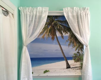 Winter in the Caribbean-Custom Printed Roller Shades