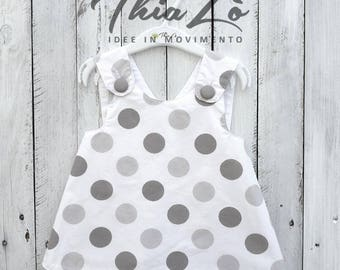 Gray dot Cross Dress