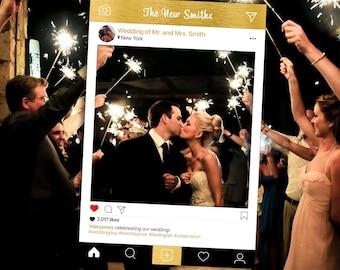 Gold Wedding Birthday Instagram | Rose Gold Wedding Theme | Wedding Instagram Photo Booth | Instagram Frames | Instagram Props |
