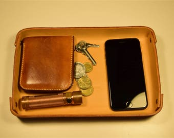 Leather Tray, Leather Organizer, Catchall Tray, Leather Valet Tray, Made in Australia