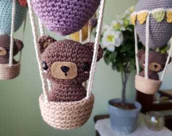 Pattern - Hot Air Balloon and Teddy