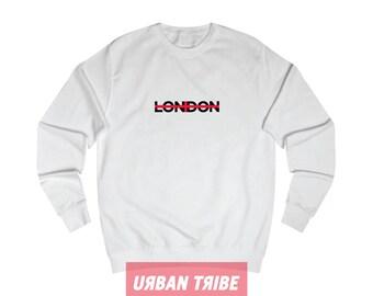 London Sweatshirt, Black Sweatshirt, White Sweatshirt, Unisex Top, Unisex Sweatshirt, 90s Hip Hop, Streetwear, Streetdance, Urban Tribe™ 002