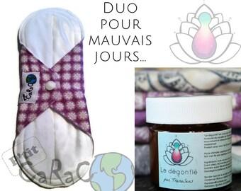 Towel - Pantiliner - washable - reusable - Urinary leakage - Menstruation - absorbing - Zero waste - feminine Hygiene - balm