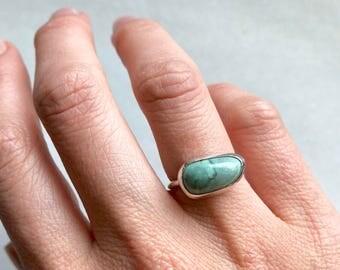New Lander Variscite Ring | Sterling Silver Ring | Turquoise Ring | Size 4.75 | Rockhaus Metals