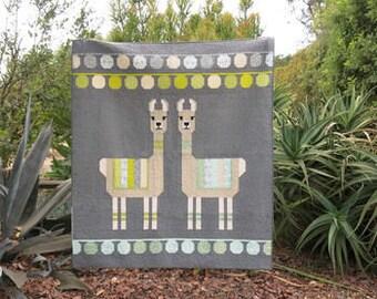 Lloyd and Lola Quilt Kit featuring Pond by Elizabeth Hartman