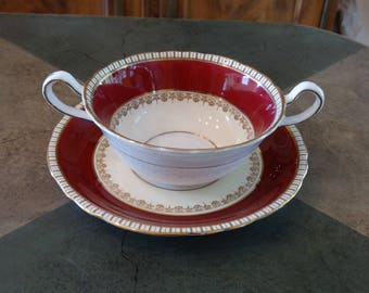 Aynsley B3736 Cream Soup and Saucer