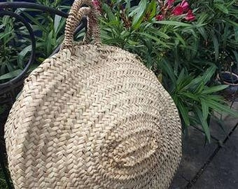 Round French basket - handmade