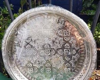 Handmade silver plated tray