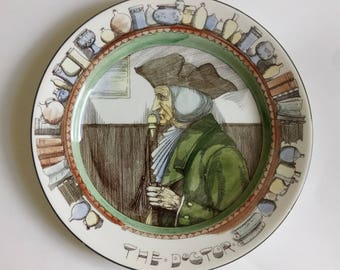 Vintage Antique Royal Doulton The Doctor Plate D3189