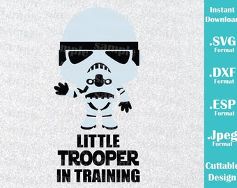 INSTANT DOWNLOAD SVG Star Wars Inspired Stormtrooper Baby Little Trooper Cutting Machines Svg, Esp, Dxf and Jpeg Format Cricut Silhouette