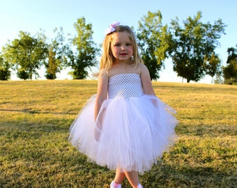 White tutu dress / Costume dress / Baby tutu / Girls tutu / Fluffy white tutu / Tutu photo prop / Birthday girl tutu / Dress up tutu / Skirt