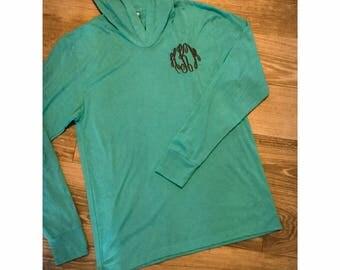 Monogrammed Hooded Tri Blend  Sweatshirt Pullover