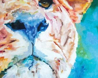 Vibrant Lioness (oils, 2017)