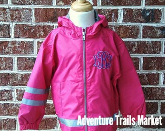 Toddler Rain Jacket, 6099, Monogrammed Rain Jacket, Family Matching Rain Coats, Coral Rain Coat, Toddler Jacket, Charles River New Englander