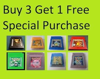 Bulk Purchase - Buy 3 get 1 free - Nintendo Game Boy, GBC, GBA (Pokemon, Fire Emblem, Earthbound, Mother)