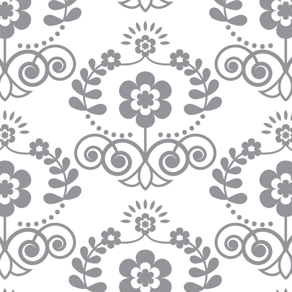 Seamless floral damask peel and stick wallpaper 203 Floral peel and stick wallpaper