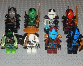 8 minifigures Ninjago Sensei Wu, Lloyd, Morro, Nya, Jay, Kai, Cole, Zane, new