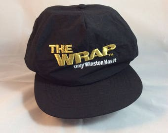 Vintage Winston Cigarettes The Wrap 90s Snapback Hat - brand new never worn