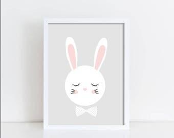 Bunny nursery print