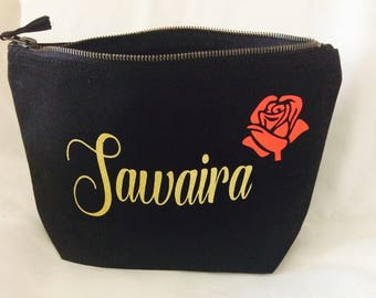 Personalised makeup bag, wedding gift, bridesmaids gift
