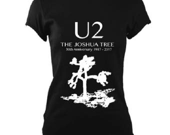 U2 Joshua Tree 30th Anniversary Brand New Ladies Fitted T-Shirt Unique Gift