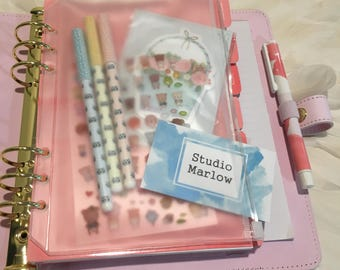 A5 - LARGE Size - Transparent ZIP LOCK envelope/sleeve for Kikki k or Filofax Planner or Organiser