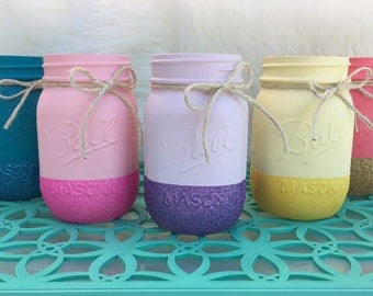 Glitter mason jar- home decor