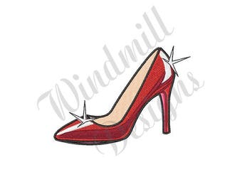 High Heeled Shoe - Machine Embroidery Design