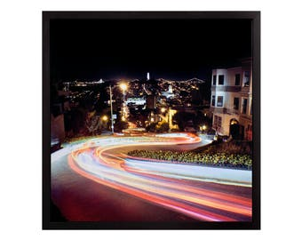 """Fine Art Photography """"Lombard Street"""" Stretched Canvas"""