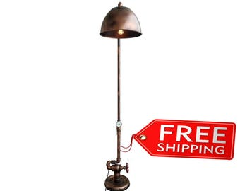 etsy gifts floor lamps industrial floor lamps industrial floor lamp floor lamp with reading light rustic