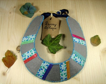 """Bib necklace """"it casual"""" felt and ribbons"""