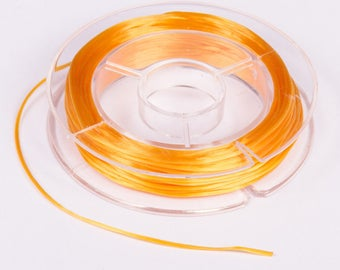 Spool of 10 meters of wire 0.8 mm yellow elastic