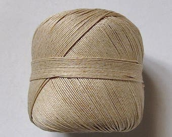 pretty natural colored linen thread reel