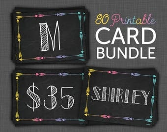 Marketing Kit - Style Cards, Price Cards, Size Cards, Style Cards, Clothing Cards, Black, Marketing Kit