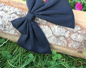 Women Bow Tie, Black Bow Tie, Unique woman bow tie, Handmade women tie, Bow tie for womens, Womens bowtie, Bowties for her, Girl accessory