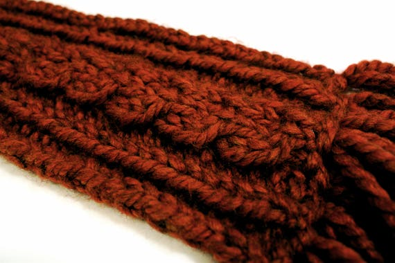 Extra Chunky Cable Knit Scarf