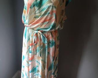 Vintage Looker Polyester Dress Size Large