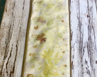 Eco printed table runner