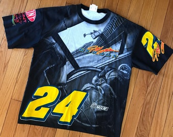 Vintage Jeff Gordon NASCAR T shirt Nutmeg Deadstock New Old Stock XL DuPont