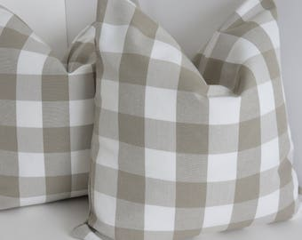 Taupe White Geometric Pillow Cover- Taupe Pillow Cover- White Pillow Cover-  Pillow Cover- Decorative Pillow Cover