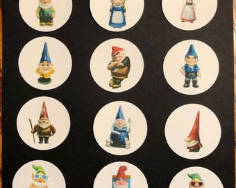 Precut Edible Gnomes for cakes, cupcakes and cookies