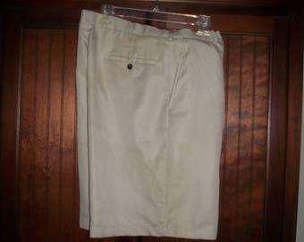 Mens Vintage Haggar Tan Dress, Golf Shorts Size 38