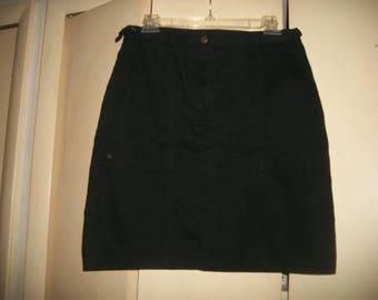 Vintage Jones New York Sport Black Cotton Skirt Size 6