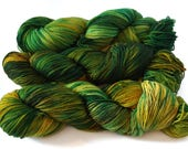 You Were Meant To Kneel - Hand Dyed Yarn - Fiber Artist Supply - DK Weight Yarn - Hand Dyed Sock Yarn -  Variegated Yarn - Ethical Yarn